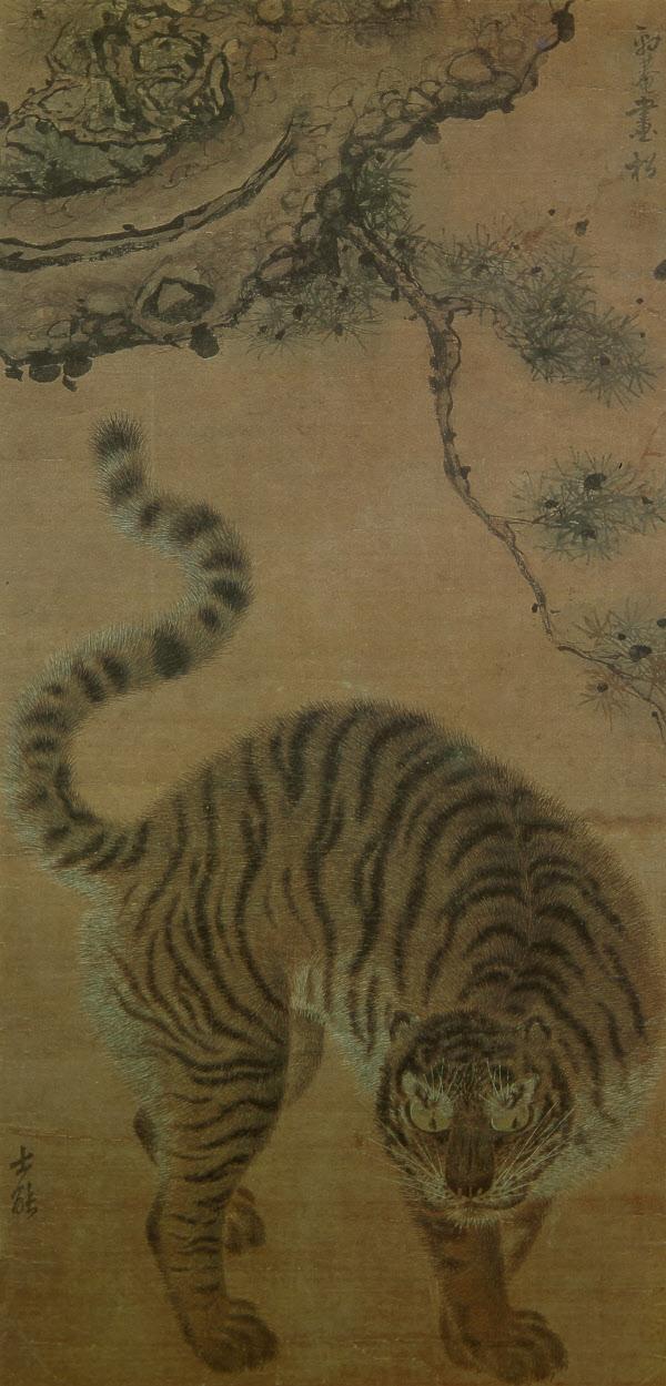 송하맹호도, 90.4 x 43.8 cm