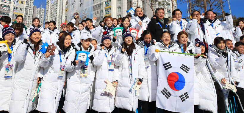 [올림픽] 빛나라 태극전사<YONHAP NO-2472>