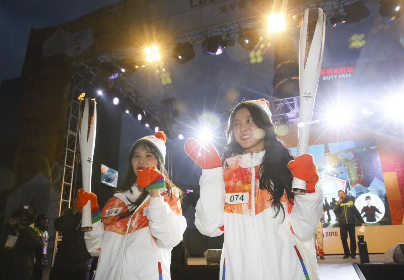 평창패럴림픽 성화봉송 나선 설현, 지민