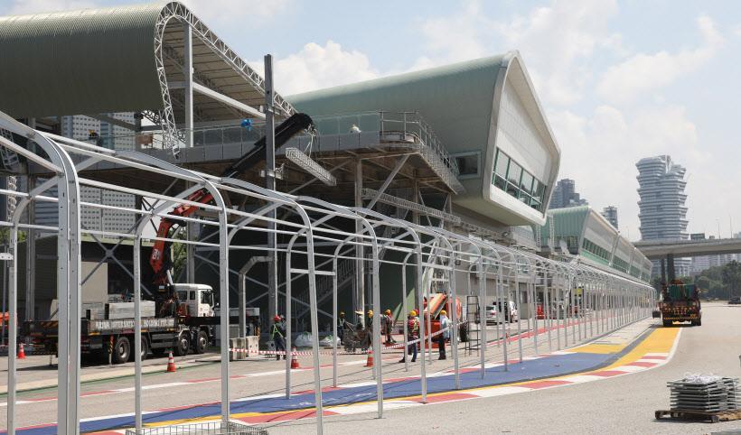 싱가포르, 미디어센터 준비 중<YONHAP NO-2713>