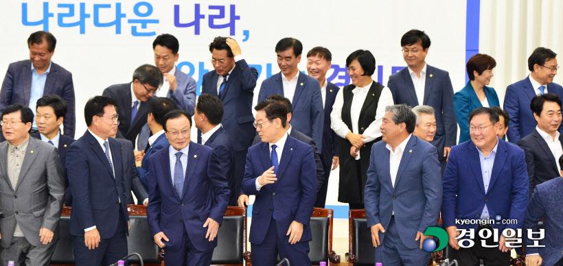 [경인포토]기념촬영 마친 더불어민주당-경기도 예산정책협의회