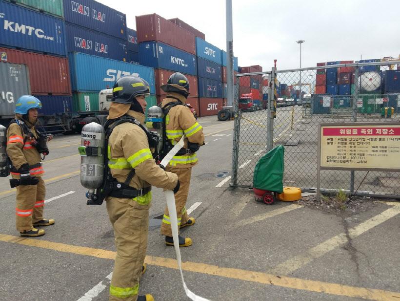 인천중부소방서, 화재예방 위한 소방합동훈련
