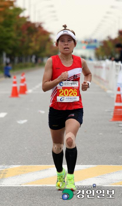 송도 마라톤 풀 여자1위