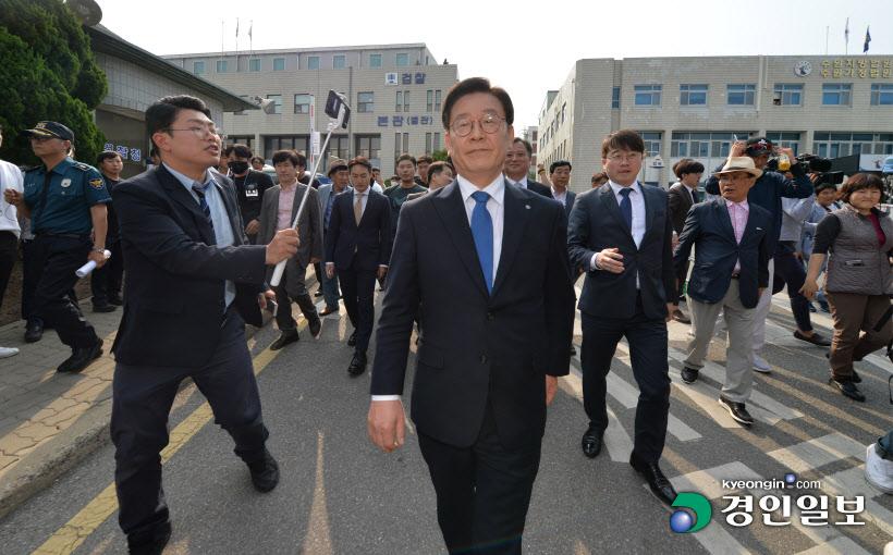 [경인포토]이재명 경기지사 '당당한 발걸음'