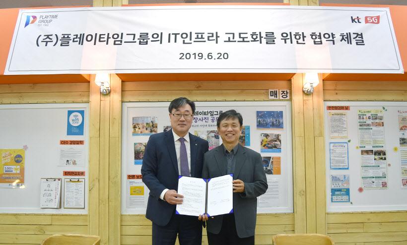 [사진자료] KT강남본부-플레이타임그룹 업무협약식