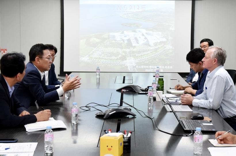 박남춘인천시장 여름철 민생현장 영종도 인스파이어 복합리조트 건설 현장방문