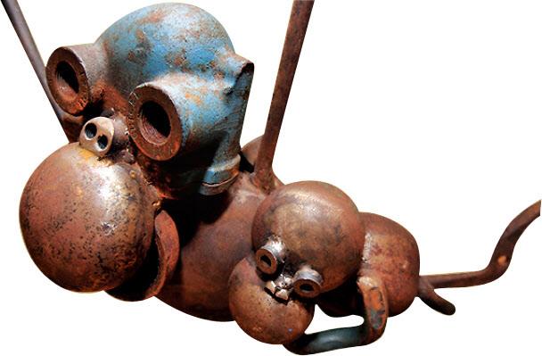 침팬지 가족