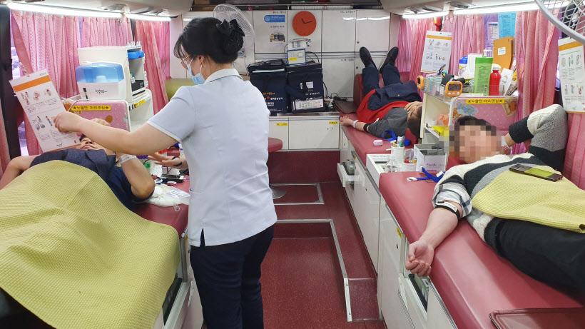 평택시 공직자 코로나19 공급난에 헌혈