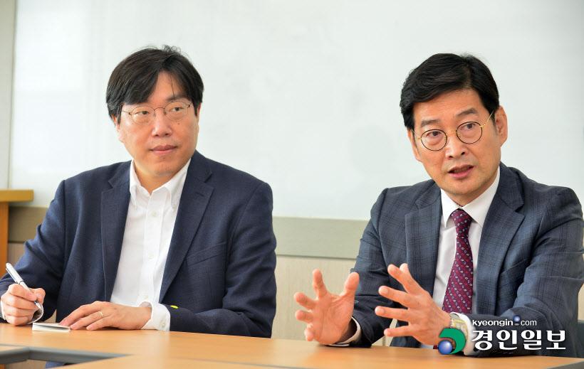 현승균 인하대 제조혁신 전문대학원 원장,장웅성 인하대 융합혁신기술원 원장
