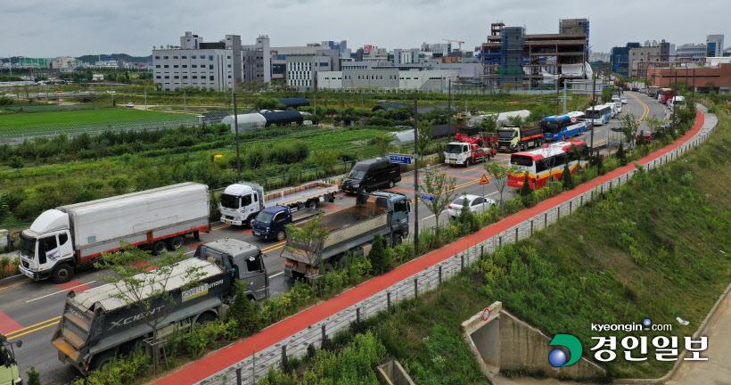 서운일반산단 2단계 예정지 불법주차 도로 안전문제