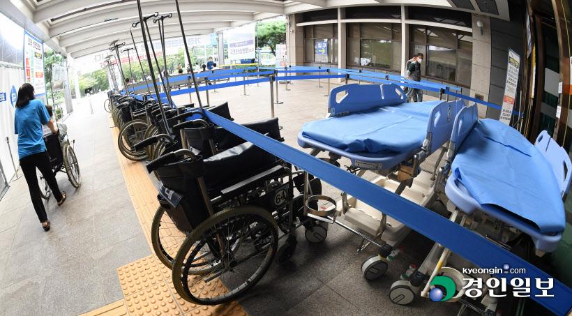 종합병원 '텅빈 의료기구들'