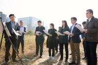 화성시의회, 병점복합타운 도시개발사업지구내 공영주차장 부지 방문