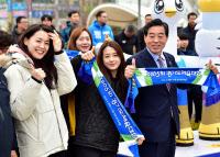 윤화섭 안산시장·스포츠스타 `도체전 홍보`