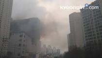 용인 성복동 롯데몰 공사 현장서 화재… 대응 2단계 발령