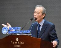 """[인천경영포럼]장기표 원장 """"트럼프, 사실상 북핵 용인"""""""