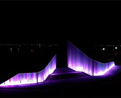 밤·낮 변하는 '전곡항 상징 조형'…경기문화재단 '바람과 파도' 설치